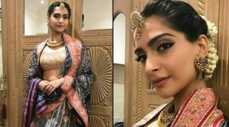 Sonam Kapoor looks picture perfect at her own Diwali bash; see pictures