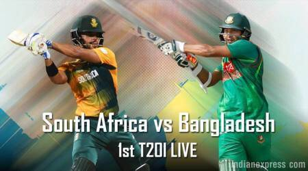 South Africa vs Bangladesh, Live Cricket Score, 1st T20I