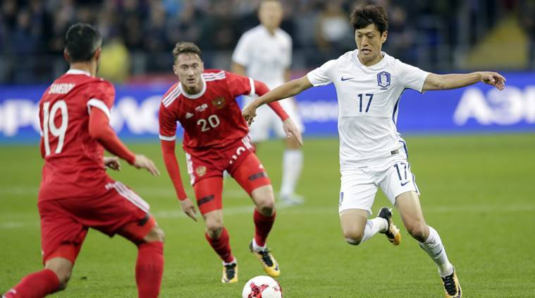 russia vs south korea, football friendlies, football, sports news, indian express