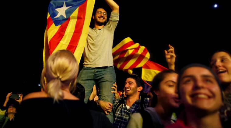Cyberspace, Catalonia referendum, Catalan independence struggle, hacker police detention, software developers detained, .cat internet domain, Catalonia high-profile raids, illegal October 1 referendum, Julian Assange, Catalan superior court, Catalan government