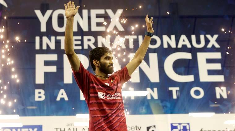 Kidambi Srikanth photos, Srikanth badminton pictures, Srikanth French Open pics, badminton french open 2017 images, french open badminton pictures Badminton photos, indian Express