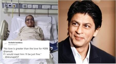 Cancer patient's last wish is to meet Shah Rukh Khan; Twitterati make #SRKMeetsAruna trend