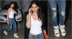 suhana khan, shah rukh khanbolly fashion, celebrity fashion, bollywood fashion price, suhana khan expensive shoes, fashion news, indian express