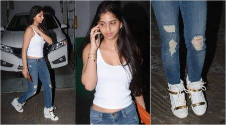 Suhana Khan's Giuseppe Zanotti wedge sneakers cost as much as a short trip to Thailand