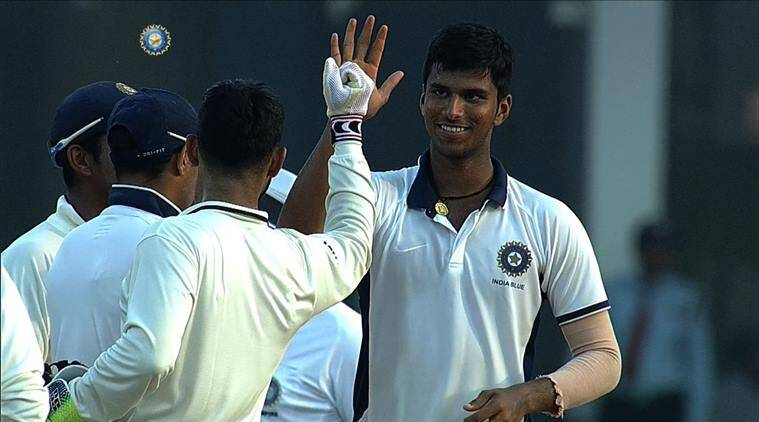 Washington Sundar, Abhinav Mukund, Ranji Trophy 2017-18, Tamil Nadu vs Tripura, sports news, cricket, Indian Express