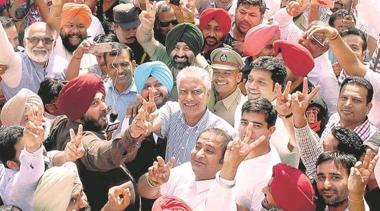 Gurdaspur bypoll, congress, Sunil Jakhar, Gurdaspur Lok Sabha bypoll, bjp, punjab bjp, punjab congress, Amarinder Singh, india news, indian express news
