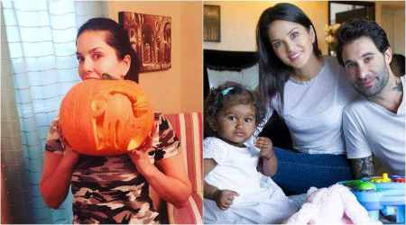 Sunny Leone and daughter Nisha are having the best time preparing for Halloween