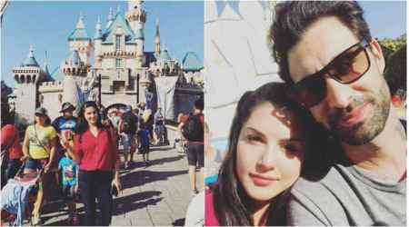 Sunny Leone and Daniel Weber take daughter Nisha to Disneyland on her second birthday. See photos