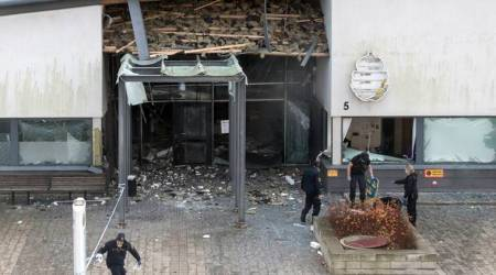 sweden explosion, sweden blast, swedish police station blast, sweden news, indian express news
