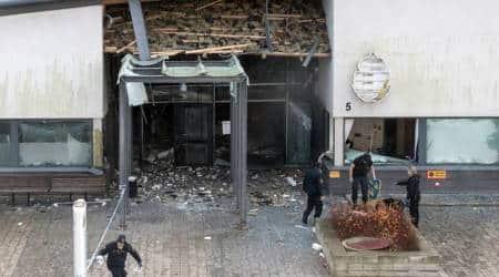 Powerful explosion rocks Swedish policestation