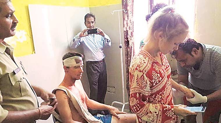 Swiss couple, Tourism Minister K J Alphons, swiss couple five star stay, free five star stay, swiss couple attacked in UP, uttar pradesh, india news, indian express news