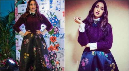 Tamannaah Bhatia is making us fall in love with her 'cute bow with a knit sweater' look