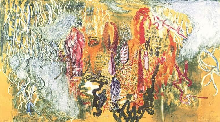 tara sabharwal artist, panchsheel art gallery, panchsheel road, art alive gallery delhi, tara sabharwal delhi exhibit, tara sabharwal painter, delhi art scene, indian express