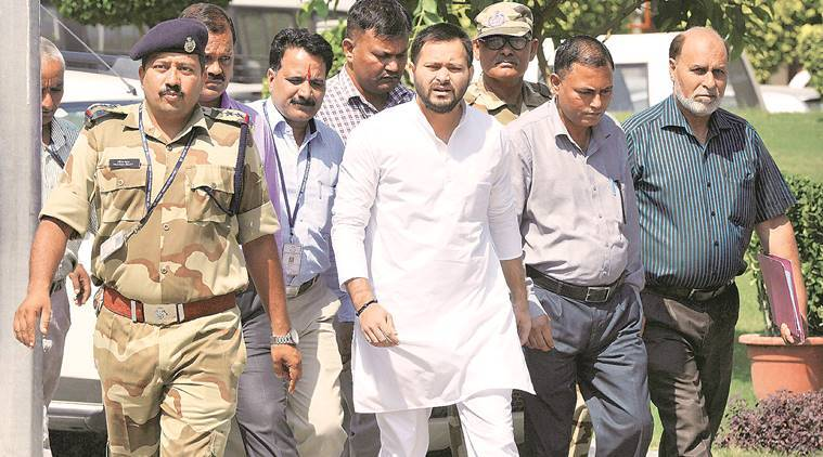 A day after Lalu, CBI grills son in hotel scam