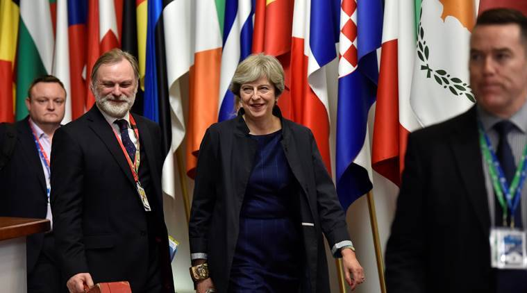 Theresa May, European Union Summit, Brussels Summit, Brexit, Brexit trade talks, World news, Indian Express
