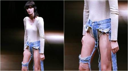 Thong jeans just made their debut, and they have nothing but the seams!