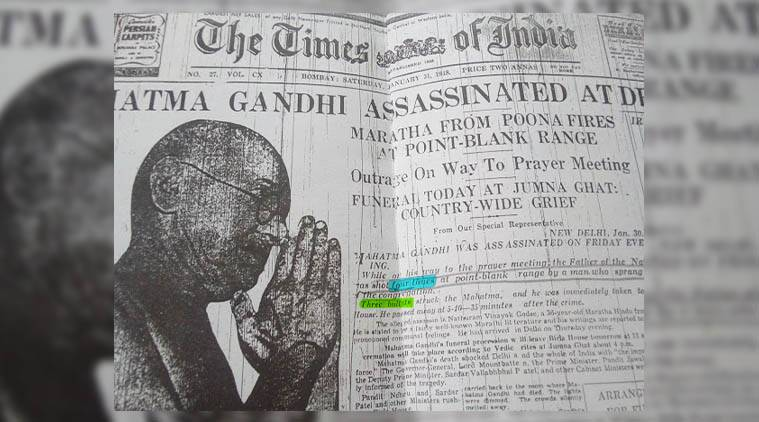 Mahatma Gandhi, Gandhi, Gandhi assassination, Gandhi four bullets, PIL for Gandhi assassination, Gandhi assassination petition, fourth bullet in gandhi murder, Nathuram Godse, Pankaj Phadnis, Godse, India news, Indian Express