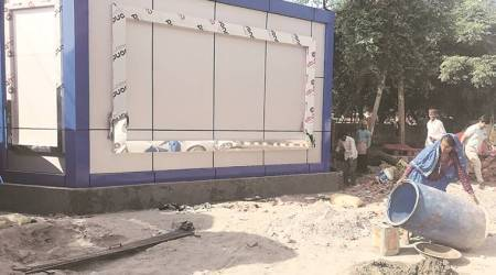 Incomplete toilets, stolen taps, long queues: ground reality of city's open defecation fight