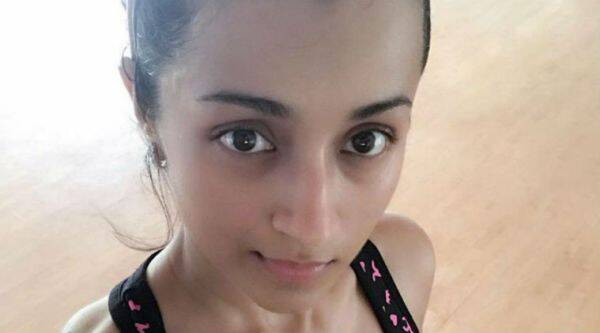 trisha gym pictures, trisha image, trisha gym training