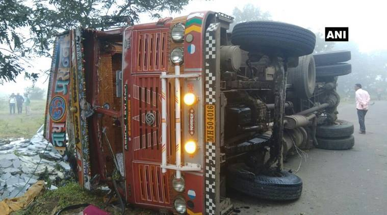 At least 10 dead as truck turns on its side in Sangli