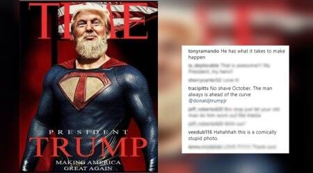 Donald Trump Jr posts fake TIME cover of Superman dad; people can't handleit