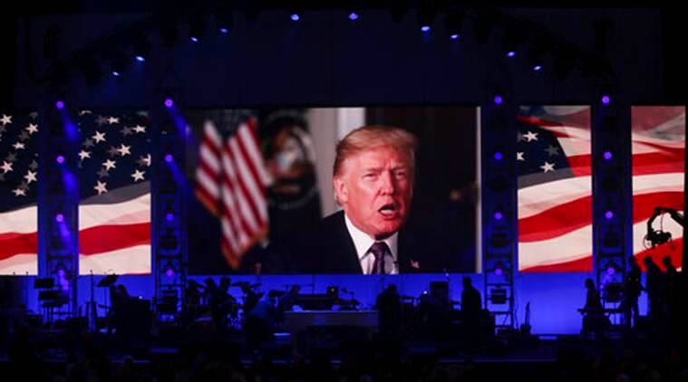 donald trump, hurricane event, US president, trump video, trump video message, former US presidents, US ex-presidents, United States, world news, indian express news