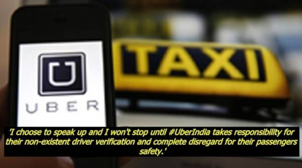 Uber, Uber india, uber driver, uber driver masturbates at woman, uber driver masturbates at woman facebook post, uber driver masturbates at woman facebook post viral, indian express, indian express news