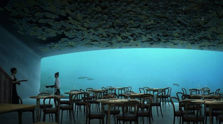 underwater restaurant, Europe's underwater restaurant, underwater lab, Indian express, Indian express news