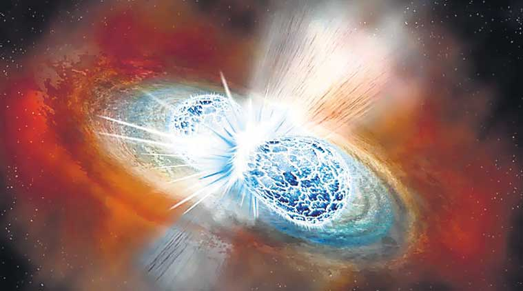neutron stars, gravitational-wave, gold, european southern observatory, eso, laser interferometer gravitational-wave observatory, ligo, platinum, elena pian, galaxy, hubble space telescope, kilonova, metalstorm, rainer weiss, barry c barish, science news, indian expres