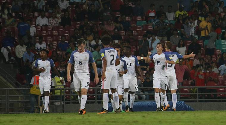 Five-star U.S. enter quarter-final with Paraguay thrashing