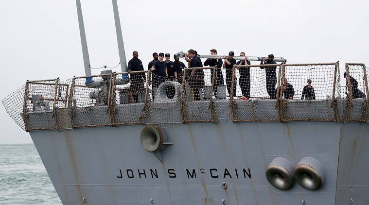 USS John S McCain, USS John S McCain officers relieved of their duties, USS John S McCain collison, US naval vessels, indian express news