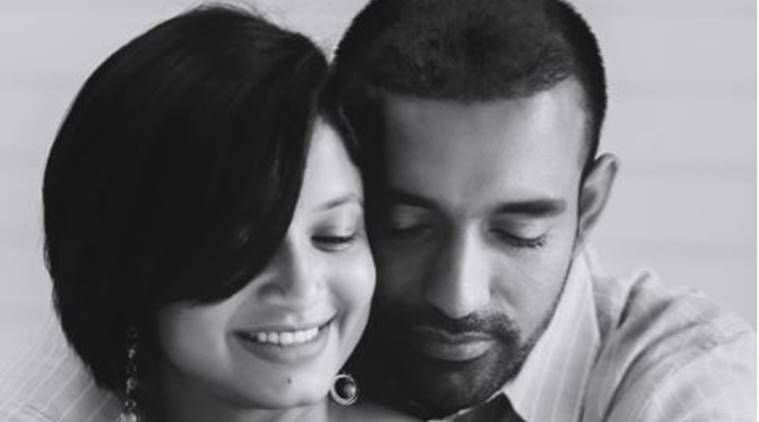 Robin Uthappa, uthappa, uthappa becomes father, uthappa kid, Sheethal Goutham, cricket, sports news, indian express