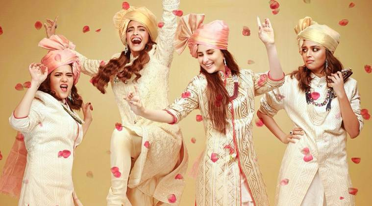 Veere Di Wedding first poster, Veere Di Wedding, Veere Di Wedding poster, Kareena kapoor, sonam kapoor, swara bhaskar, Shikha Talsania