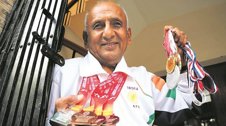 Gurbachan Singh Saunkhla, Asian Masters Athletic Championship, Haryana Masters Athletics Association, Sports news, indian express news