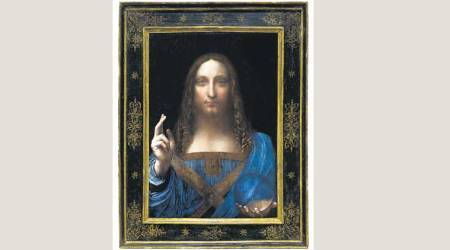 Da Vinci painting, Leonardo da Vinci, Leonardo da Vinci rare painting, Christie auction house, Saviour of the World, rare painting by Leonardo da Vinci, indian express explained