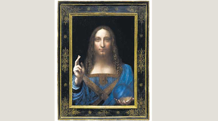 Da Vinci painting, Leonardo da Vinci, Leonardo da Vinci rare painting, Christie auction house, Saviour of the World, rare painting by Leonardo da Vinci, indian express explained