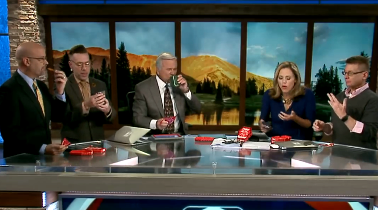 VIDEO: This TV show anchor puked on-air and the entire gig