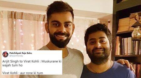 Virat Kohli posted a photo with Arijit Singh, and the memes soon followed!