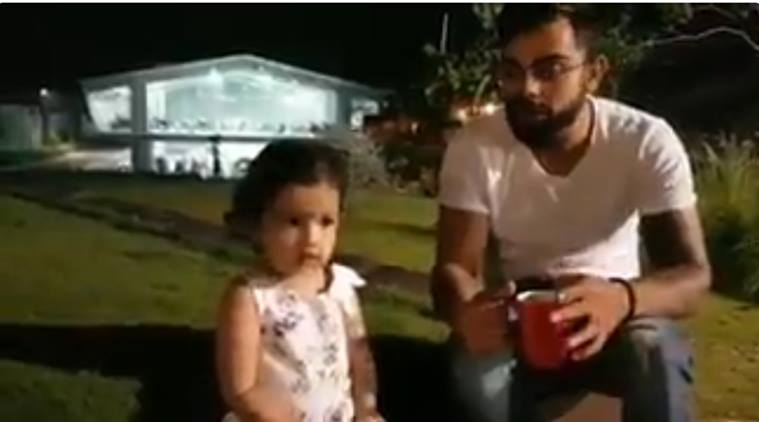Virat Kohli, Ziva, Indian cricket team, MS Dhoni, Dhoni daughter, sports news, cricket, Indian Express