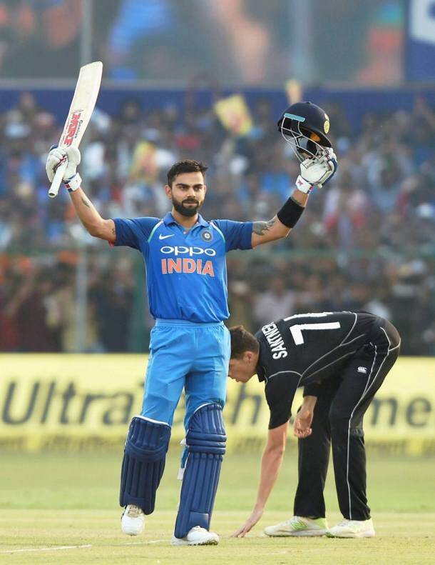 Virat Kohli, rohit sharma, Virat Kohli hundred, rohit sharma hundred, india vs new zealand, ind vs nz, india vs new zealand 3rd odi, New Zealand tour of India 2017, sports news, cricket, Indian Express