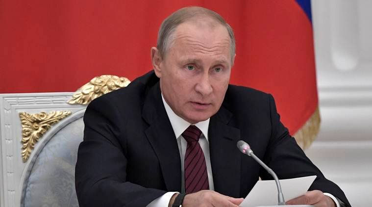 Russian President Vladimir Putin , Vladimir Putin, Putin on online extremism, online extremism putin, social media putin, Vladimir Putin on online extremism, world news, russia security council, indian express news
