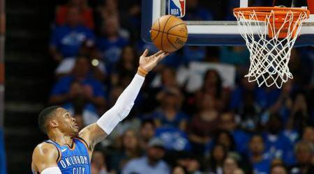 NBA: Oklahoma City Thunder top New York Knicks 105-84 in debuts for Paul George, Carmelo Anthony