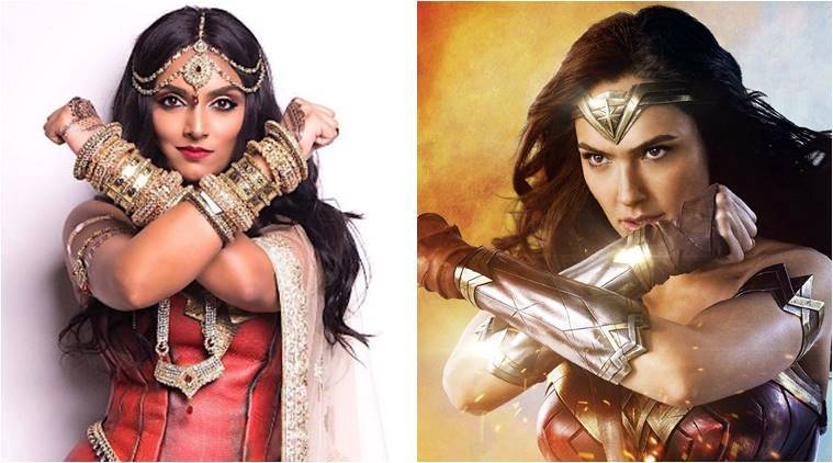 wonder woman, south asian wonder woman, wonder woman halloween tuitorial, wonder woman make up tuitorial, ‏ deepica mutyala, gal gadot, indian wonder woman, halloween costume ideas, inidan express, viral news