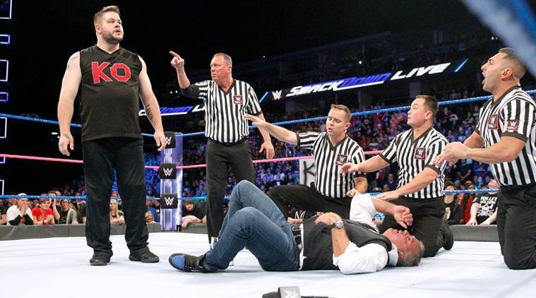 wwe smackdown, wwe smackdown results, wwe smackdown news, jinder mahal, shane mcmahon, kevin owens, wwe news, sports news, indian express