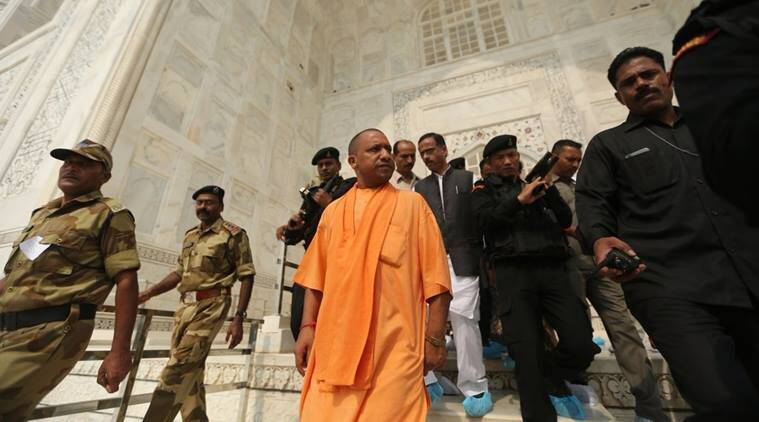yogi adityanath news, taj mahal news, india news, indian express news
