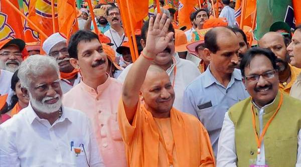 Yogi Adityanath, Adityanath, India news, Indian express news, UP CM, lord ram, BJP campaign, local body polls