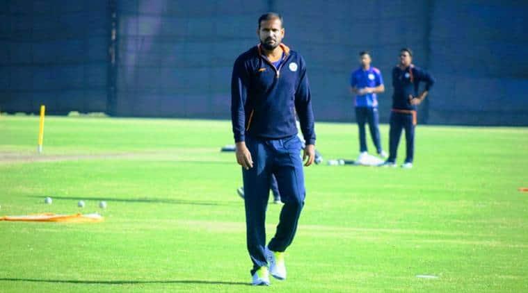 Yusuf Pathan, Yusuf Pathan hundred, Yusuf Pathan twin tons, Yusuf Pathan runs, Ranji Trophy 2017, Baroda vs Madhya Pradesh, sports news, cricket, Indian Express