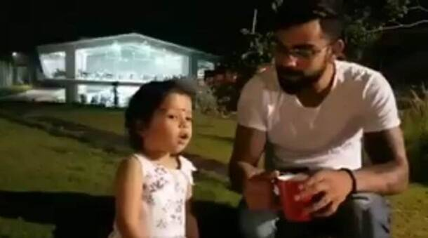 Virat Kohli's adorable moments with MS Dhoni's daughter Ziva