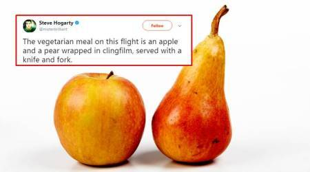 Man gets served 'veg meal' of 'apple and pear' on airline; Twitteratioutraged