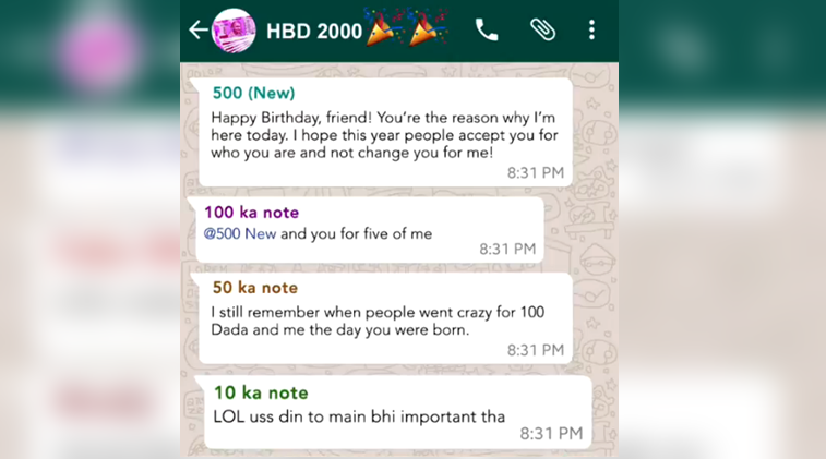 VIDEO: This WhatsApp group celebrated Rs 2000 note\'s BIRTHDAY, and ...